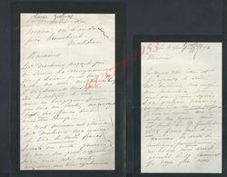 2 + 1 LETTRES DE 1893 ECT ECRITE DE ROSCOFF & MANOIR DU MANÉ EN CAUDAN  FAMILLE LOUISE GEOFFROY : - Manuscripts
