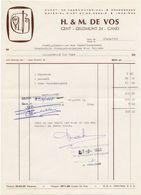 Factuur Facture - Drukwerken Papier - H & M. De Vos  - Gent 1968 - Imprimerie & Papeterie