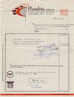 Factuur Facture - Reisbureau Flandria - Van Oostende - De Buck - Gent 1968 - Sports & Tourisme