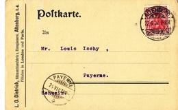 Zwei (2) Postkarte L.O. Dietrich, Nähmaschinenfabrik, Altenburg 1907 - Germany