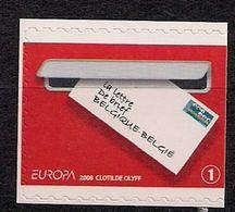 2008 Belgien  Mi. 3828 DR   **MNH  Boklet Stamp Europa : Der Brief - 2008