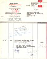 Factuur Facture - Gents Advertentieblad - Gent 1968 - Imprimerie & Papeterie