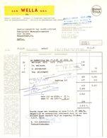 Factuur Facture - Produits Cosmétiques - Wella - Bruxelles Brussel 1968 - Droguerie & Parfumerie