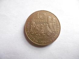 (E134)-FRANCE-PIECE DE 10 FRANCS MATHIEU 1985-VICTOR HUGO - Commémoratives