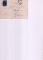 Sachsen Mi 10 Auf Brief 1862 - Lettere