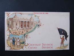 Pub Format CPA - CHOCOLAT DEVINCK - EGYPTE - EXPOSITION DE 1900 - GRAND PALAIS - Publicité