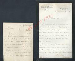 3 LETTRES DE 1893/99 DE CHARLES SABATIER NOTAIRE À NOGENT SUR SEINE : - Manuscripts