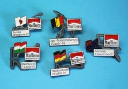 5 PIN'S //    ** CIRCUITS / F1 ** SUZUKA / SPA-FRANCORCHAMPS / ADELAÏDE / HOCKENHEIM / BUDAPEST ** - F1