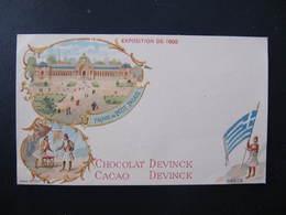 Pub Format CPA - CHOCOLAT DEVINCK - GRECE - EXPOSITION DE 1900 -  PETIT PALAIS - Advertising