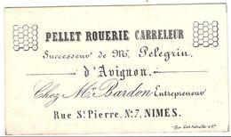 CARTE PORCELAINE . CARRELIER . AVIGNON - Publicités