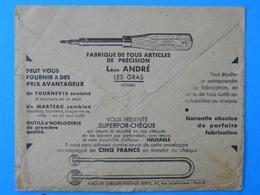 Giro Envelope, Bank Envelope,  Cheque, Screwedriver, Tools, Instruments - Fabrieken En Industrieën