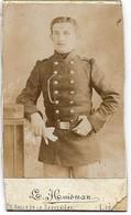 PHOTO ORIGINALE Sur Carton : Un Soldat Belge - Guerre, Militaire