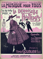 """REVUE MENSUELLE """"LA MUSIQUE POUR TOUS"""" N° 115 - Partitions Musicales Anciennes"""