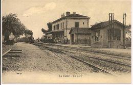 """L150b093 - La Ciotat - La Gare - """"Reproduction: En 1900...."""" Eurodis - La Ciotat"""