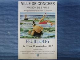Affiche D'exposition De L'artiste Peintre Feuilloley  - 60 X 40 Cm - Affiches