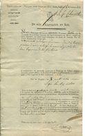 Citation Directe D'1 Habitant D'Havré Au Tribunal De Police Correctionnelle De Mons - Département De Jemappe 1813-1814 - Collections