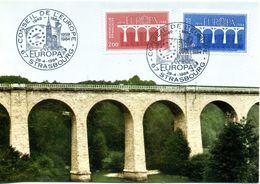 EUROPA CEPT 1984 FRANCE CARTE MAXIMUM YVERT 2309-2310 - 1984