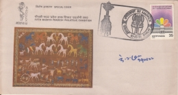 India  1982  Wall Pictograph  Horses  Animals  MAPPEX  Special Cover   #  10212   D  Inde Indien - India