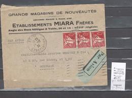 Lettres  Algérie - Sétif Pour Bordeaux - Au Verso Marseille - Gare - Avion - 1934 - Algérie (1924-1962)
