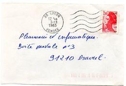 VENDÉE - Dépt N° 85 = LUCON 1983 = FLAMME Codée à DROITE = SECAP  Muette '5 Lignes Ondulées' - Marcophilie (Lettres)