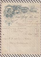 7/75 Lettre Facture LEON YOUF ST SAINT LO MANUFACTURE DE TARARES 1915 - 1900 – 1949
