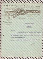 7/58 Lettre Facture IMPRIMERIE DE COMMERCE BILLON ST SAINT MALO 1920 - France