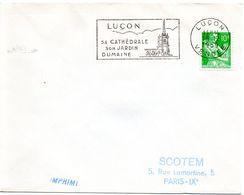 VENDÉE - Dépt N° 85 = LUCON 1959 = FLAMME SUPERBE = SECAP Illustrée ' CATHEDRALE / JARDIN DUMAINE ' - Marcophilie (Lettres)