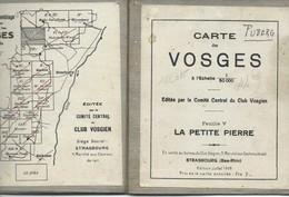 Club Vosgien : Feuille 5 = LA PETITE PIERRE - 1/50 000ème - 1929. - Topographical Maps