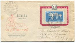 1773 - LUNABA 1951 Auf Illustriertem FDC Nach ELMHURST In Den U.S.A. - Blocs & Feuillets