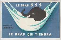 BUVARD TEXTILE VESTIMENTAIRE 135 X 205 MM ILLUSTRATEUR VILLEMOT - Le Drap 3 + 3 + 3 Production André HUET - Textile & Clothing