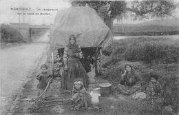 ¤¤   -  MONTSOULT   -  Un Campement Sur La Route De Baillet   -  Romanichels  -  ¤¤ - Montsoult