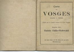 Club Vosgien : Feuille 12 = SAINTE-ODILE / HOHWALD - 1/50 000ème. - Topographical Maps