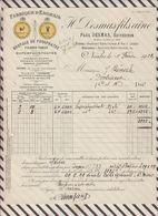 7/76 Lettre Facture DESMAS NANTES FABRIQUE ENGRAIS 1929 - France