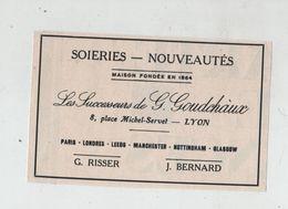 Soieries Goudchaux Lyon 1925 Risser Bernard - Werbung