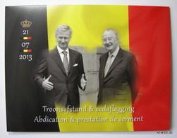 BELGIUM 2013 Albert II Troonsafstand & Eedaflegging. Abdication & Prestation De Serment. 21-07-2013 COB 210, Scott 2657 - Blocs 1962-....
