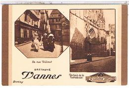 56  VANNES  LA RUE  BILLANT  ET LA  CATHEDRALE    TBE    1Y155 - Vannes