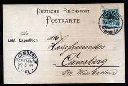 A5356) DR Karte Frankfurt 28.3.99 N. Camberg KOS-Stempel Als Ankunftsstempel - Deutschland