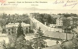Lausanne - Ecole De Commerce Et Pont Chauderon - VD Vaud