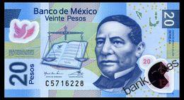 MEXICO 20 PESOS 2016 SERIES АА Pick 122 Unc - Mexico