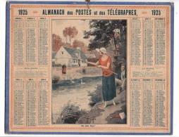 Calendrier Des Postes  1925  Pêche à La Ligne      Complet étatB/TB   Port France 3,20€ - Calendars