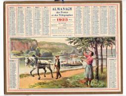 Calendrier Des Postes  1925 Péniche      Complet   étatB/TB   Port France 3,20€ - Calendars