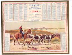 Calendrier Des Postes  1926 Morbihan  Troupeau      Complet   étatB/TB   Port France 3,20€ - Formato Grande : 1921-40