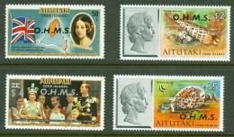 Aitutaki: 1978/79   Official - Marine Life 'O.H.M.S.' OVPT Set   SG O1-16   MNH - Aitutaki