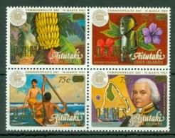 Aitutaki: 1985/90   Official - Commonwealth Day 'O.H.M.S.' OVPT - Surcharge   SG O38-O41   MNH - Aitutaki