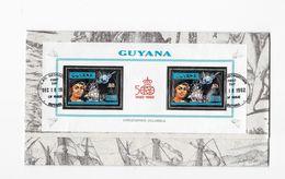 GUYANA- 500° Anniversaire De La Découverte Par Christophe Colomb Bloc Feuillet - Christopher Columbus