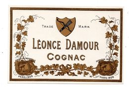 Etiquette Cognac Léonce Damour - Etiquettes