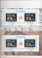 GUYANA- 500° Anniversaire De La Découverte Par Christophe Colomb Non Dentelé-dentelé Or Et Argent - Christopher Columbus