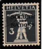 SUISSE 1930, Société Des Nations: Fils De Tell 3c Bleu-violet (ZNr 33), Oblitéré TTB - Officials