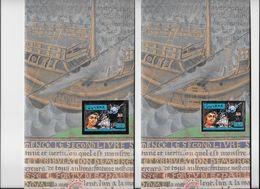 GUYANA- 500° Anniversaire De La Découverte Par Christophe Colomb Non Dentelé-dentelé Argent - Christopher Columbus