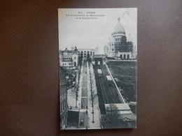 75 - CPA - PARIS - LE FUNICULAIRE DE MONTARTRE ET LE SACRE COEUR - TIMBREE 1904 - R14403 - Sacré Coeur